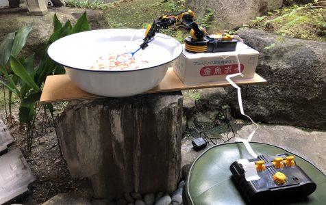 奈良テレビ「ゆうドキッ!」にて、ロボット金魚すくいを取り上げていただきました!